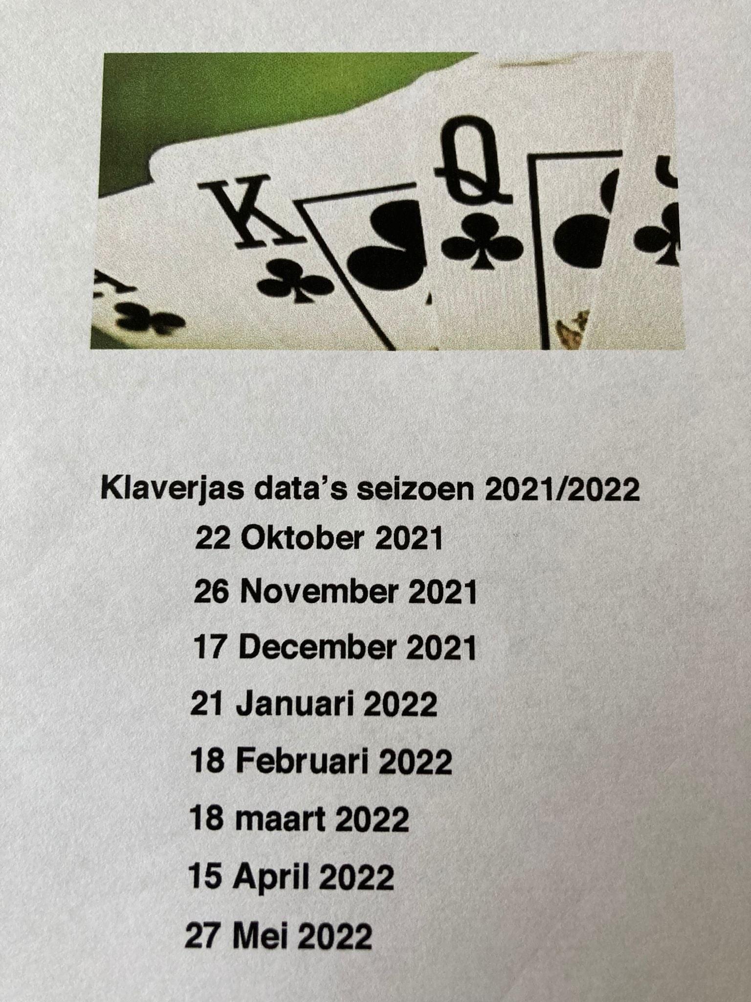 Data klaverjassen